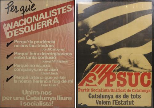 DOS CARTELES DE LA TRANSICIÓN